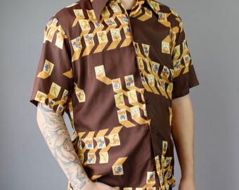Men's 70's Graphic Print Shirt