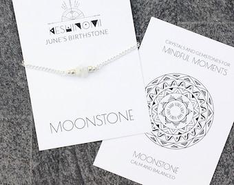June birthstone, rainbow moonstone bracelet, boho jewelry cheap, meaningful jewelry, healing crystals beaded bracelet, healing crystal gift