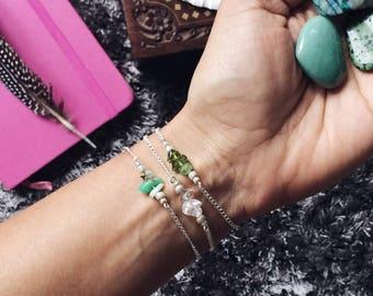 30th birthday, dainty bracelet, delicate bracelet, Clear quartz, April birthstone bracelet, boho bracelet, yoga bracelet, healing crystals