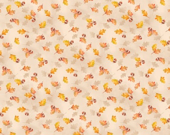 A Colorful Season by Nancy Mink for Wilmington Prints Fall Leaves and Acorn Fabric Fabric by the Yard Quilt or Craft Fabric