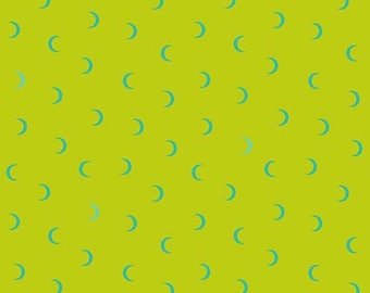 Yardage Libs Elliott Wildside Moon Age in Lime for Andover Fabrics, Modern Fabric, Modern Quilt