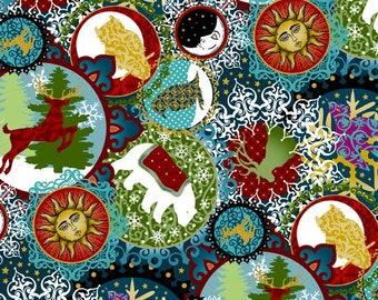 Yardage, In the Beginning Fabrics, Small Collage in Black, Woodland Animals, A Celestial Winter, Jason Yenter