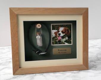 Pet Memorial Shadow Box Frame | Personalised Pet Loss Gifts | Oak Pet Frame | Personalized Dog Frame | Cat Keepsake | Pet Gift