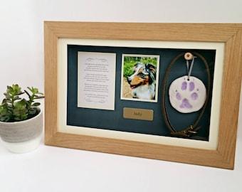 Pet Memorial Shadow Box Frame | Personalised Pet Loss Gifts | Panoramic Pet Frame | Personalized Dog Frame | Cat Keepsake | Pet gift