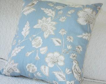 Stunning Bird on Blue background Cushion Cover - Quality Furnishing Fabric - 45 x 45cm