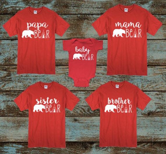 Papa Bear Mama Bear Baby Bear Pajamas Target: Christmas Pajamas Mama Bear Papa Bear Baby Bear Brother