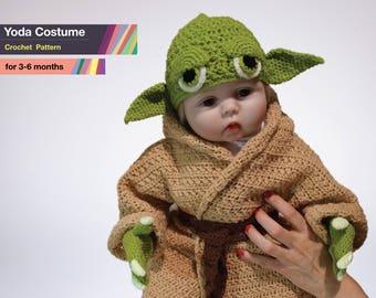Star Wars Baby Yoda Costume Crochet PDF Pattern 391bb91c685a