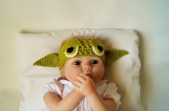 Baby Yoda Headband Crochet Pdf Pattern Star Wars Patterns Etsy