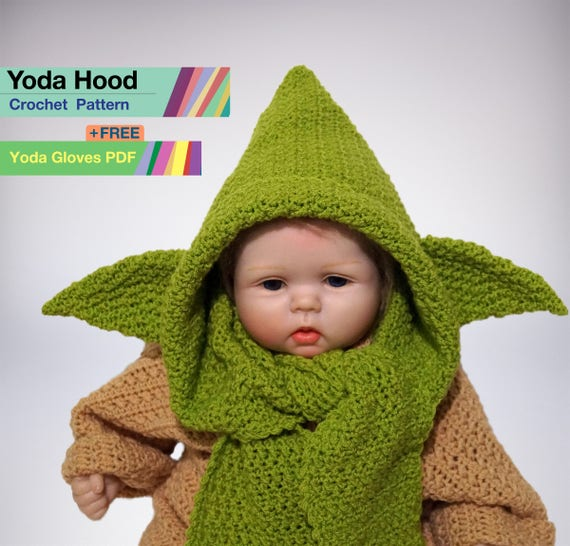 Yoda Hood Crochet Pdf Pattern Yoda Costume Baby Star Wars Etsy