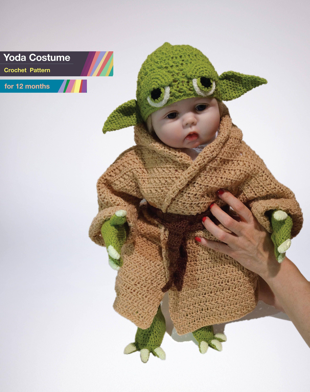 Yoda Toddler Costume Crochet PDF Pattern Baby Yoda Costume