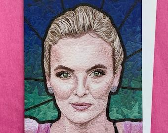 Villanelle Art Card- Killing Eve Jodie Comer Embroidery print