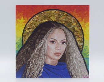 Beyoncé Embroidery Art Card