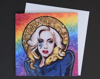 Lady Gaga Embroidery Art Card