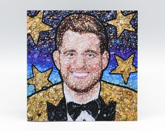 Michael Bublé Embroidery Art Card