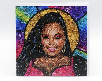 Lizzo Embroidery Art Card