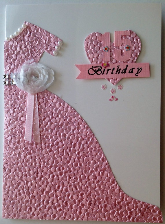 Quinceaera model 2 15 birthday card handmade quinceaera etsy image 0 m4hsunfo