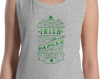 Women/'s Racerback Tank Find the Music Ireland Dance Irish Dancer
