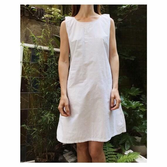 Vintage white cotton french victorian edwardian st