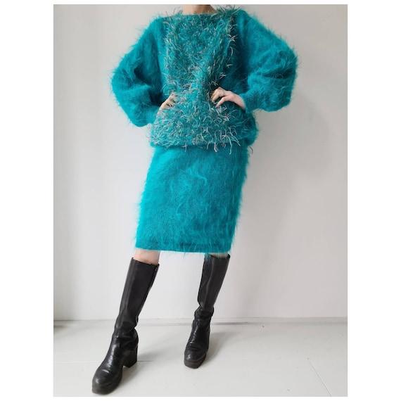 Vintage mohair handmade fluffy jumper top M