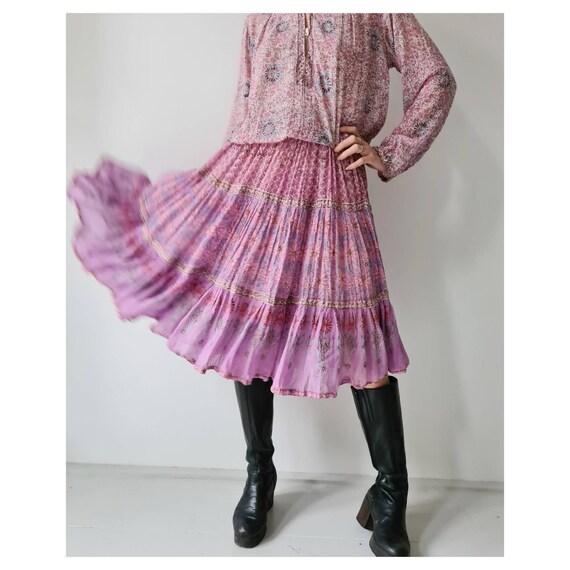 Vintage Indian cotton seventies gauze dress by adi