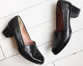 Vintage leather simple pumps sandals EU 39 UK6