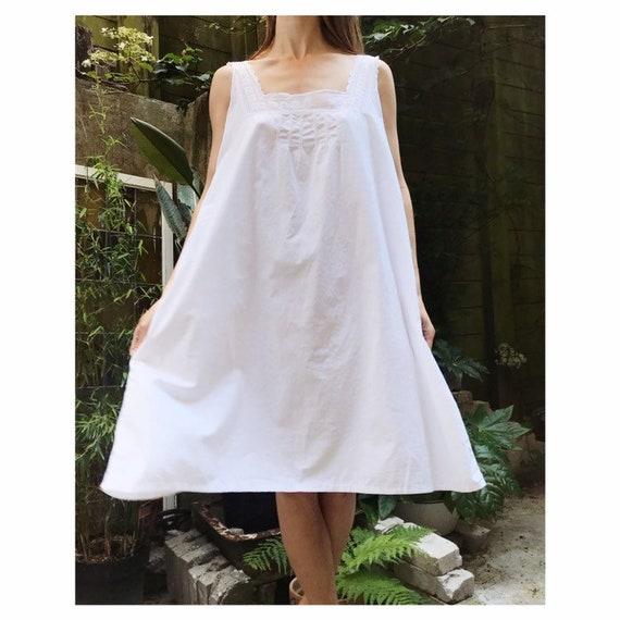 Vintage white cotton edwardian victorian french st
