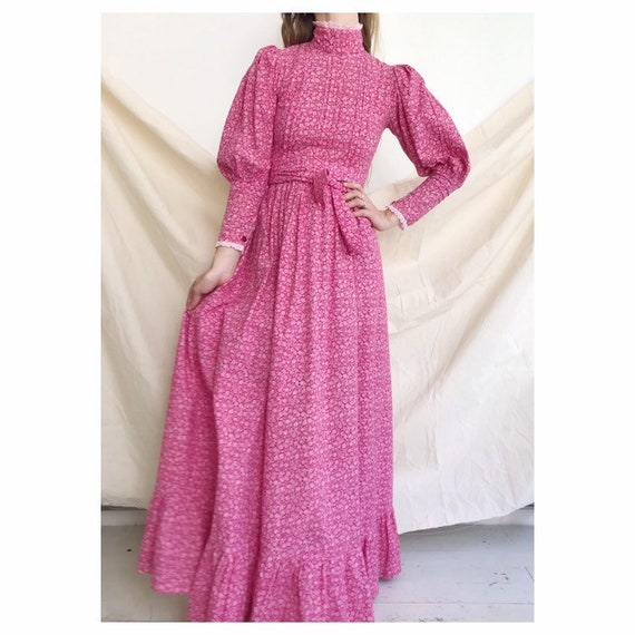 Vintage cotton laura ashley maxi prairie seventies