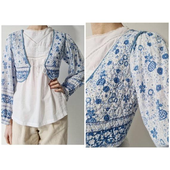 Vintage Indian cotton waistcoat blouse