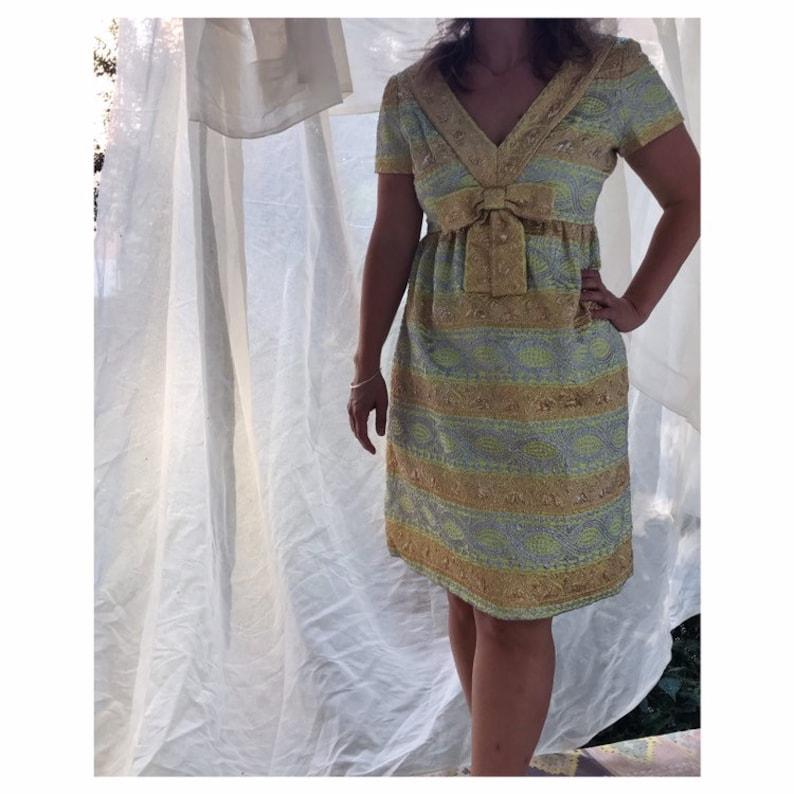 plus récent e4dbc 3ab60 Vintage cocktail brocart lurex hippie boho robe de mariée S / M