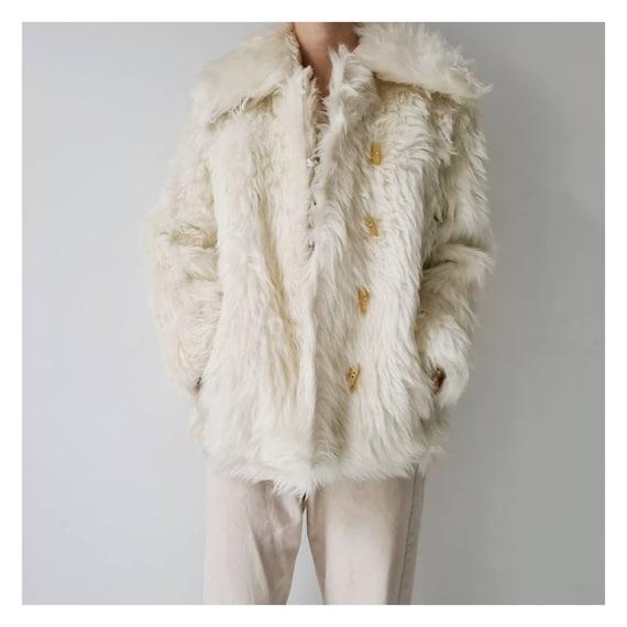 Vintage seventies fluffy faux fur jacket s m