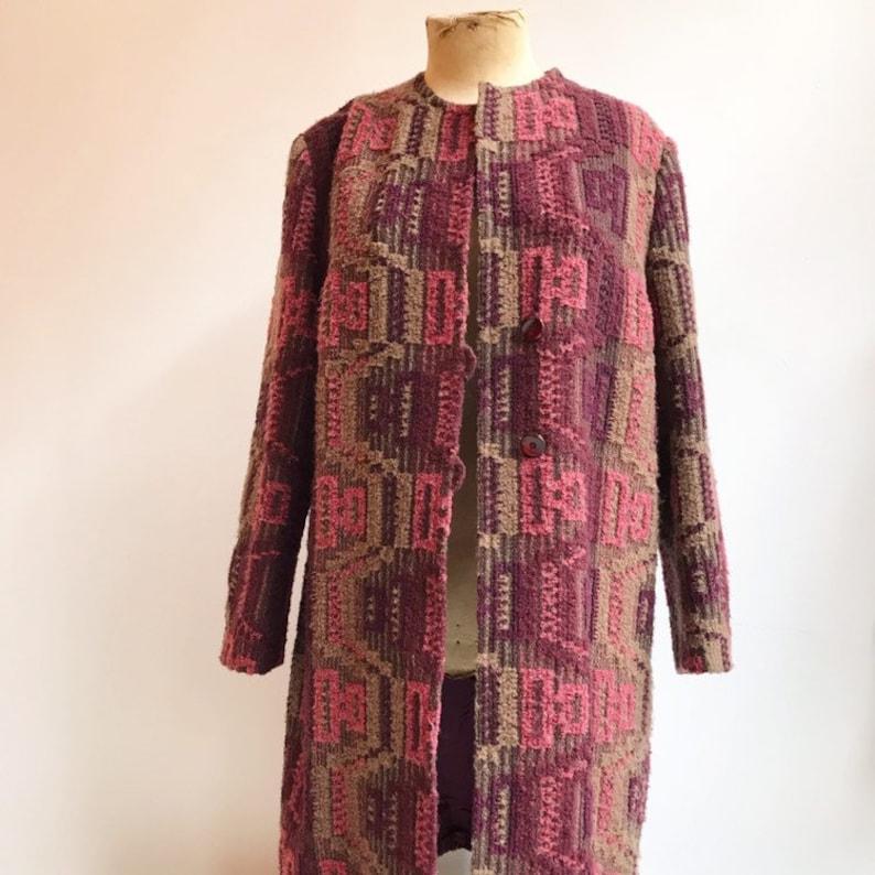 36c6fbfc4a9 Vintage folkore gucci style hippie bohemian seventies coat