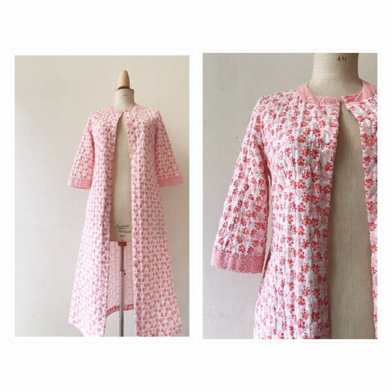 Vintage quilted house robe house coat S