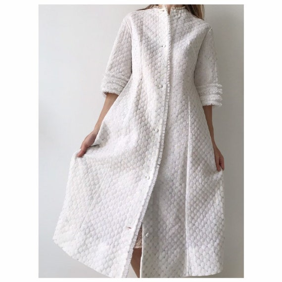 Vintage quilted robe house coat gucci style, size