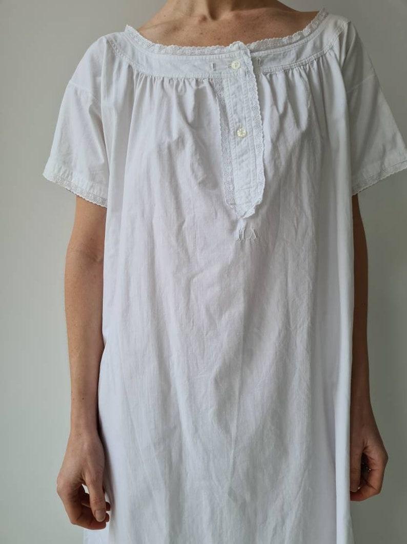 Vintage white cotton broderie nightgown summerdress