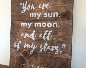 You are my sun...