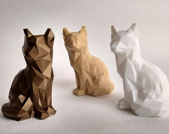 Origami style wolf