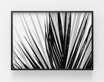 tropical home decor items items similar to palm leaf print in black and white  tropical home  items similar to palm leaf print in