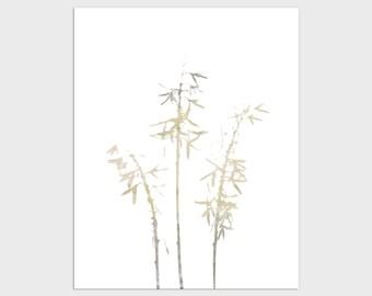 Neutral Botanical Wildflower Print, Minimalist Floral Wall Art, Modern Farmhouse Decor, Framed/Unframed Fine Art Paper or Canvas