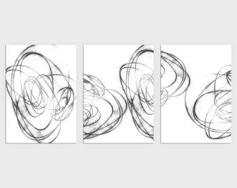 Black/White Abstract Art
