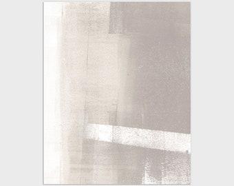 Neutral Modern Minimalist Abstract Print, Framed/Unframed Fine Art Paper or Canvas