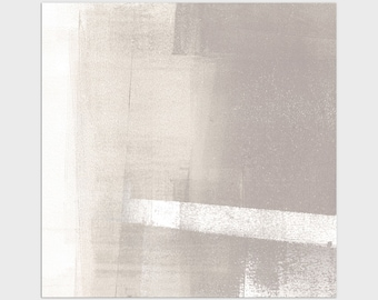 Neutral Modern Square Abstract Print, Contemporary Minimalist Wall Art, Framed/Unframed Fine Art Paper or Canvas