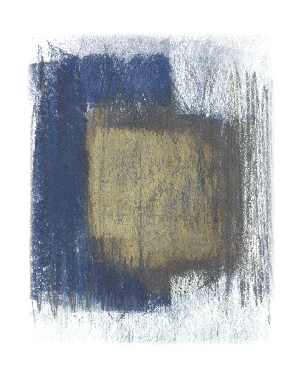 Indigo Beige Art Print
