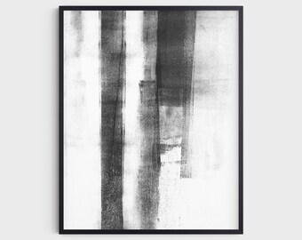 Black and White Contemporary Abstract Art Print, Modern Minimalist Industrial Wall Art, Fine Art Paper or Canvas