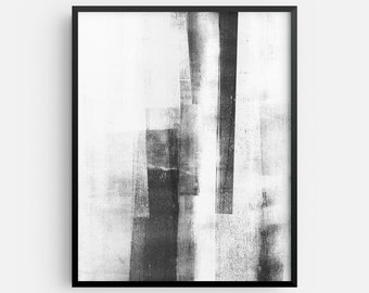 Contemporary Abstract Black and White Minimalist INSTANT DIGITAL DOWNLOAD