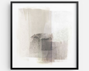 Neutral Contemporary Abstract Painting INSTANT DIGITAL DOWNLOAD, Square Modern Minimalist Wall Art