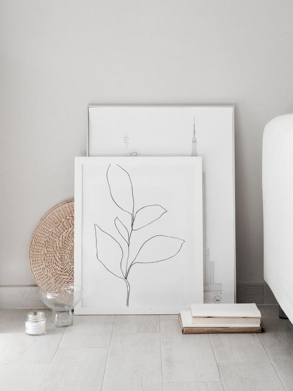Five Leaf Plant Art Print