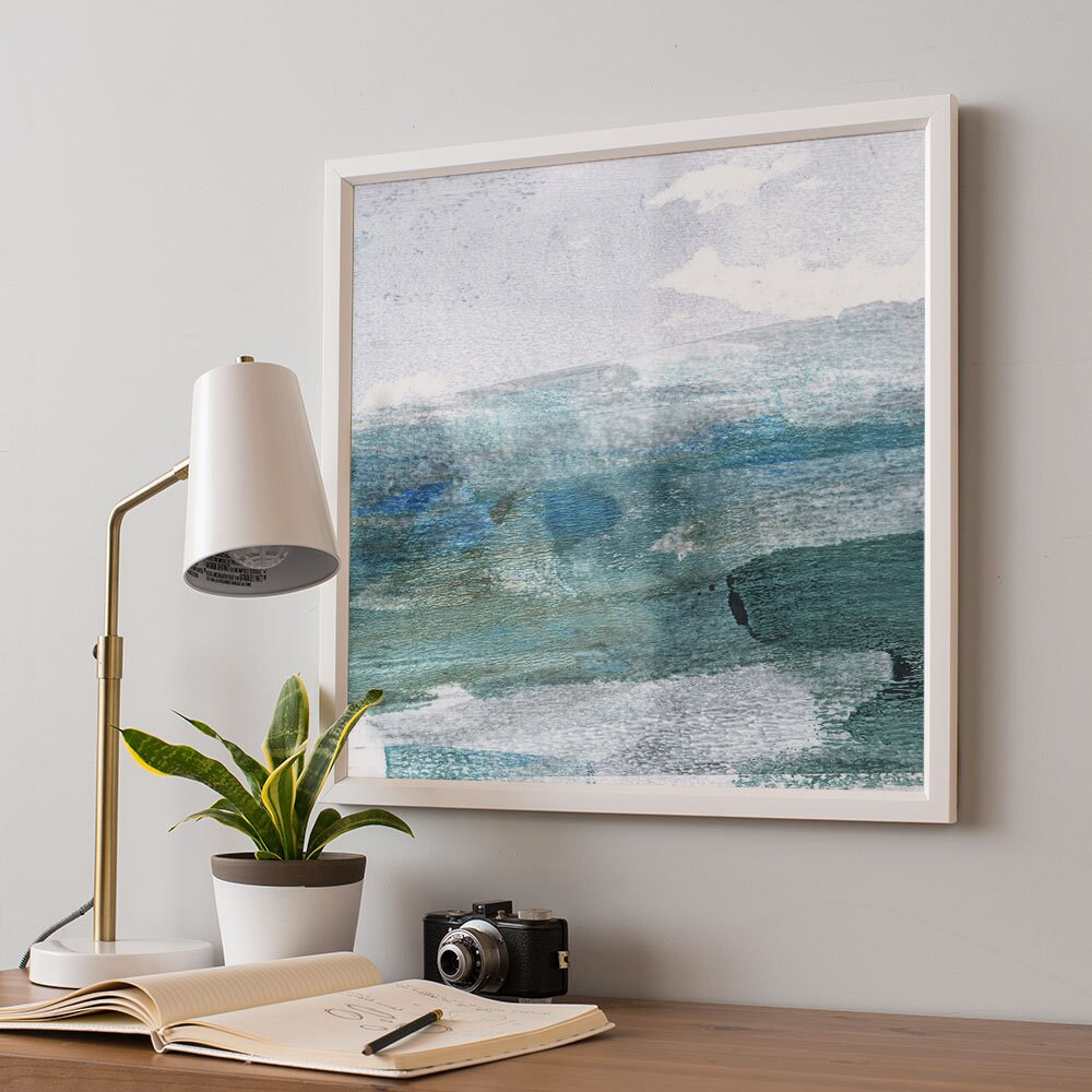 Abstract Seascape Square Art Print
