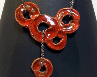 Necklace with Ceramic Pendants