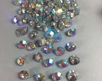 Vintage buttons. 14mm crystal buttons. Sold by lots of 6 pieces. c3da8aed9f26