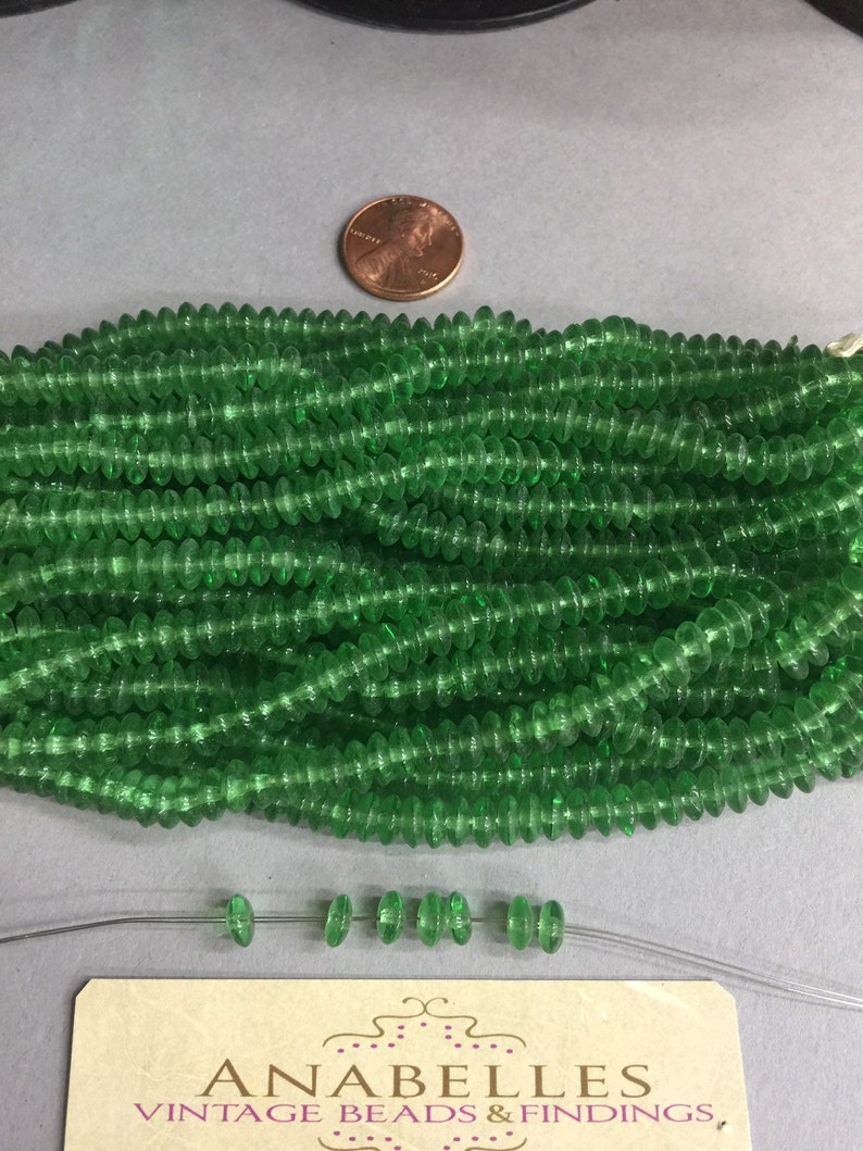 6x2.5mm Beads Vintage Rondel beads Sold by lots of 100 pieces. NOS Lovely